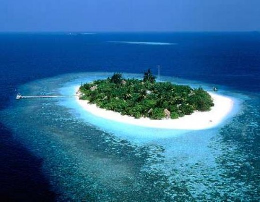 Aerial view of Minicoy Island