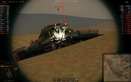 The IS4 pictured here bounced the incoming shell of its armor. The IS4 now has an opportunity to deal efficient damage to the tank that fired on it.