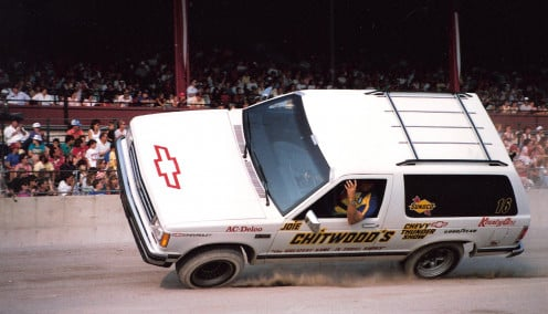 Joey Chitwood, famous and talented dare-devil thrill driver.