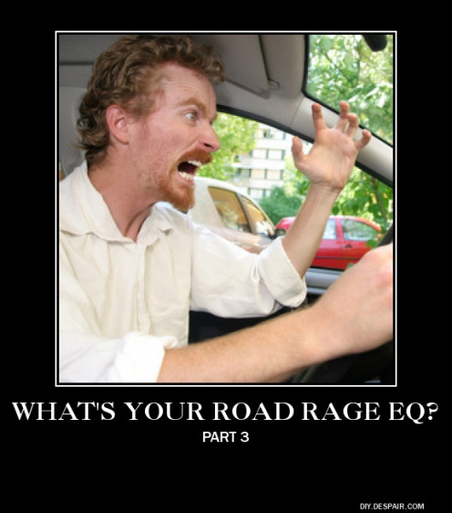 Road rage has made this man scream with anger at other motorists.