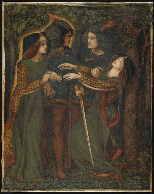 Dante Gabriel Rosetti, Meeting the Doppelganger