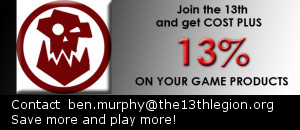 The 13th Legion. Save more play more!