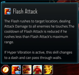 Flash special attack #1; Flash Attack