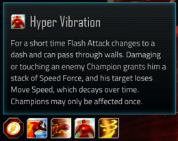Flash special attack #3; Hyper Vibration