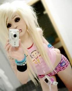 Cute Blonde Emo Girls