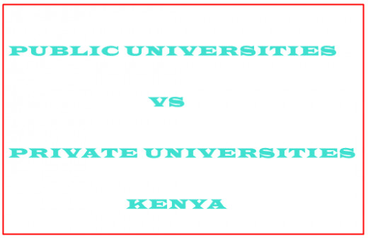 choose between public & private institutions of higher learning kenya
