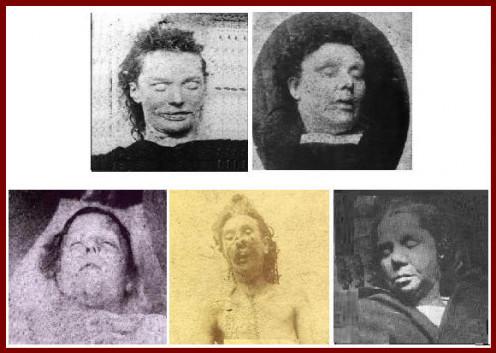 Elizabeth Stride, Ann Chapman, Mary Ann Nichols, Catherine Eddowes, and Mary Jane Kelly