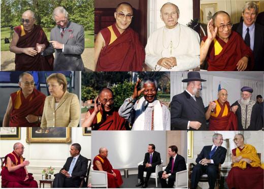 The Dalai Lama met many world leaders.
