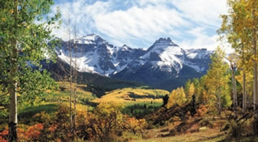 You could find views like this one exploring Colorado's backcountry.