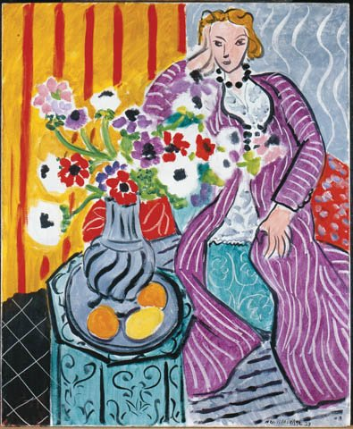 """""""Purple Robe with Anemones"""" after Matisse"""