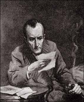 """Dear me, Watson,"" said Holmes, staring at the slips of foolscap..."