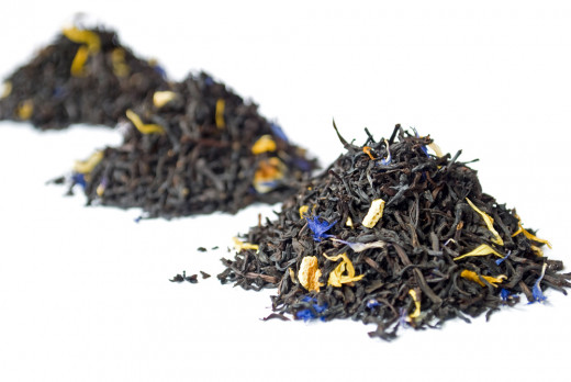 Piles of Earl Grey Tea
