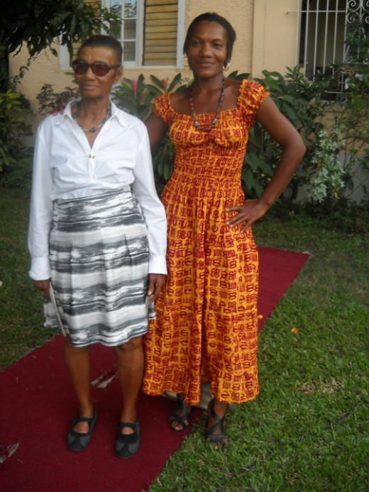My grandma and aunt who partially mothered me