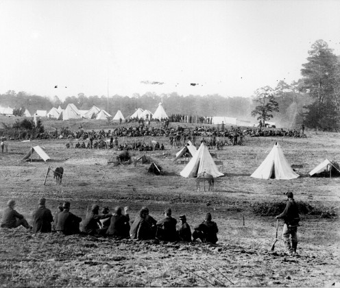 Confederate prisoner of war confinement area.