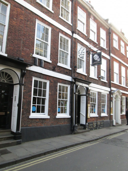 This is the birthplace of Guido Foulkes on High Petergate, overlooked by the cathedral's majestic west front - now the Guy Fawkes Hotel.