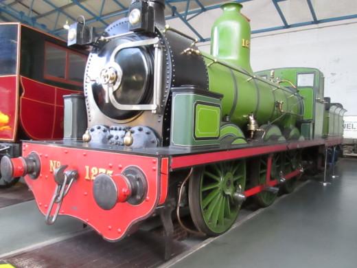 Tennant class 1001 no. 1275 stands near the turntable in the National Railway Museum, that used to be York North loco shed (50A)