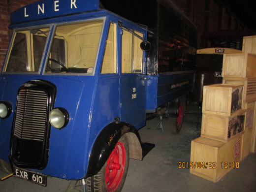 One of the LNER's 'mechanical horses' on show in the Peter Allen building, the former York North Goods Depot