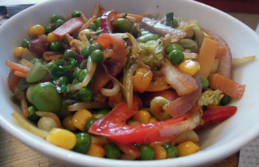 Stir fries are naturally vegan and full of delicious and nutritious ingredients.