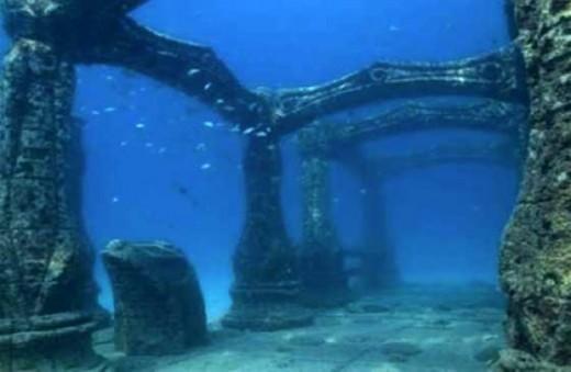 A submerged temple in Mahabalipuram