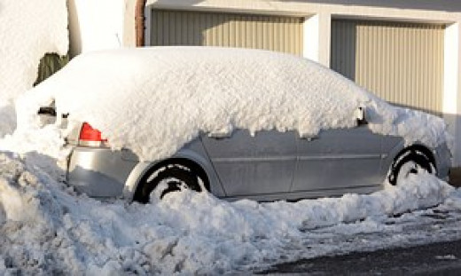 My car is anonymous until the snow melts.