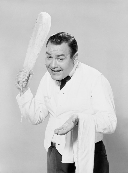 The multi-talented Jonathan Winters often did skits where he was a waiter.