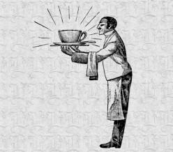 International symbol for waiters and waitresses.