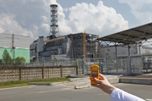 The Chernobyl nuclear plant