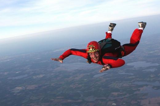 Sky Diving Causes Ear Barotrauma