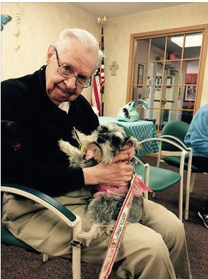 Ladybug's first official Therapy Dog visit on 5-09-15