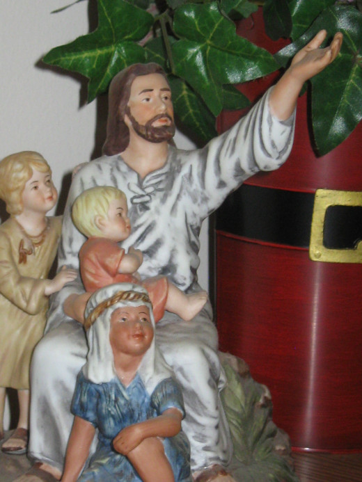 Come unto me - Home Interiors statue from my mantle