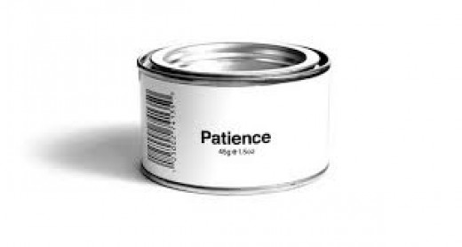 If only patience could be packaged and place on the shelf for immediate use!