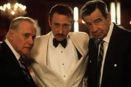 Brent Spiner with Lemmon and Matthau in Out to Sea.