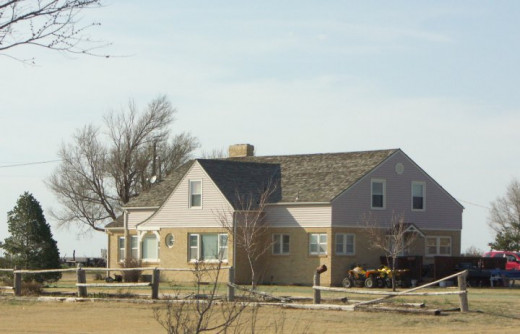 The Clutter home, where the gruesome murders took place near Holcomb, Kansas
