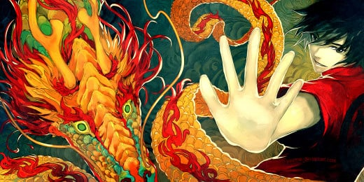 A digittal poster of a Chinese Dragon for the Chinese New Year.
