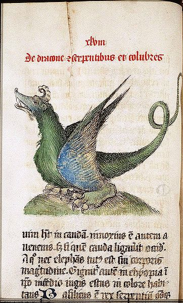 Dragon in the Liber Floridus of Lambert of St Omer anno 1460