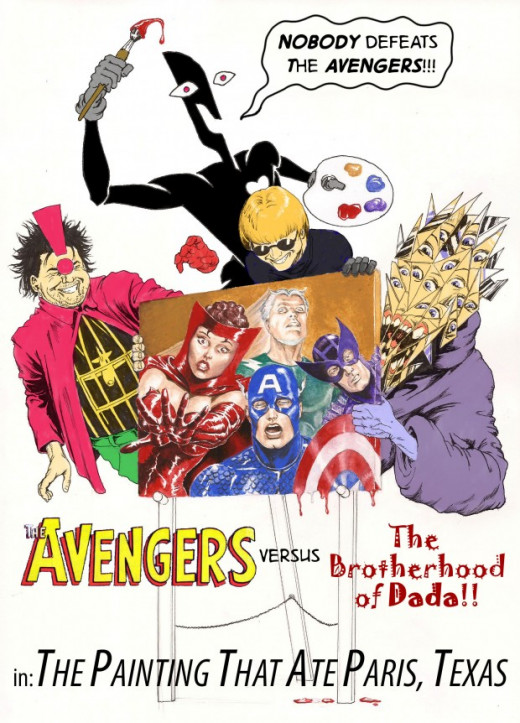 Avengers vs Brotherhood of Dada by Nick Perks