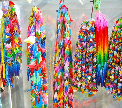 Children from all over the world send paper cranes to Hiroshima for healing, even in the 2010s.
