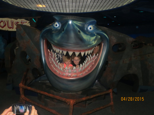 Who wouldn't want to sit in a shark's mouth?