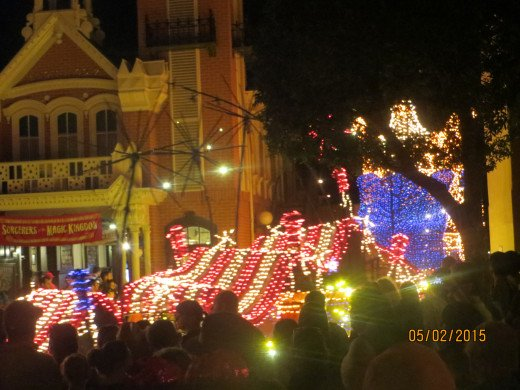 End of the nighttime parade.