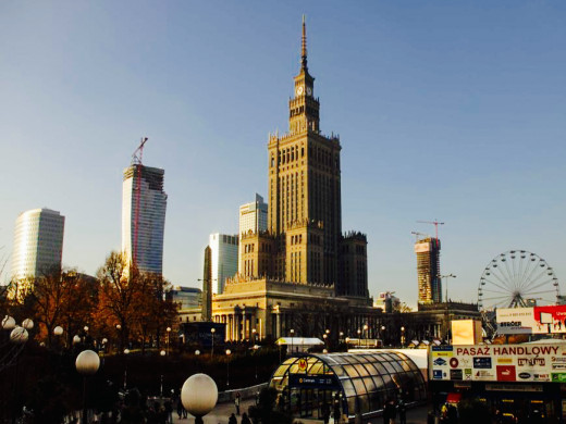 The Palace of culture and science with its new neigbours are hubs of new economic prosperity