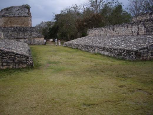 Ballcourt, Ek Balam, Yucatan