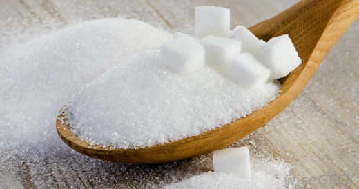 Sugar makes wax sticky for hair-removal