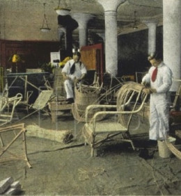 Detail: Making Wicker Furniture at Paine's, Boston is available in a variety of sizes and formats at