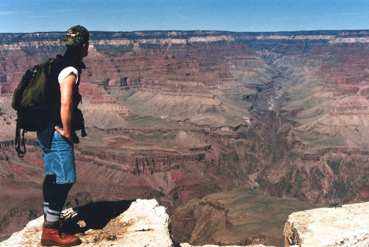 Scott looking over the Grand Canyon.