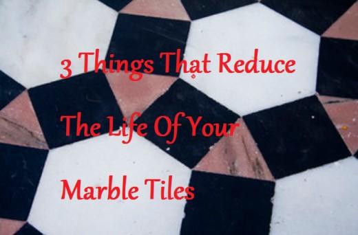 Elegant marble tiles