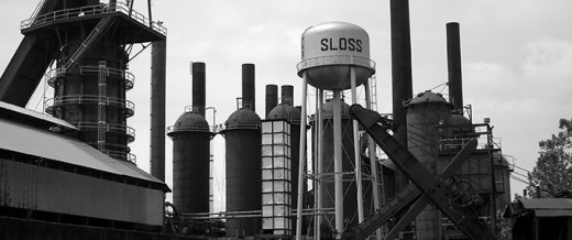 Wide shot of the main factory at Sloss Furnaces. Visit the picture link for more information.