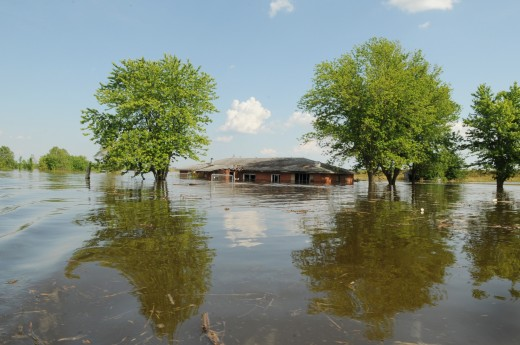 Flooded Home. Wikimedia Commons