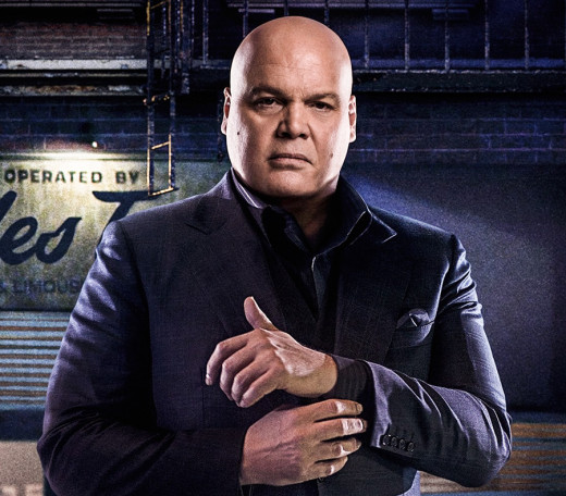 Vincent D'Onofrio as head-honcho crime lord Wilson Fisk/Kingpin. A genuine scene-stealer.