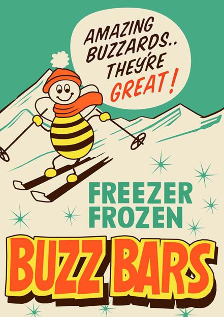 Early poster - Buzz Bars