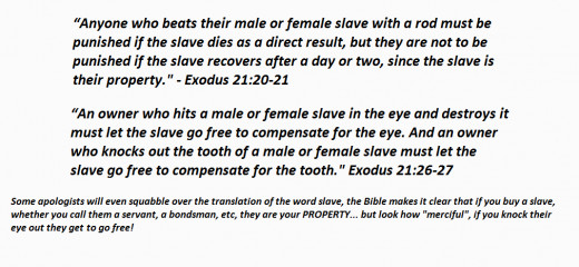 Yahweh is Evil - Slavery | HubPages